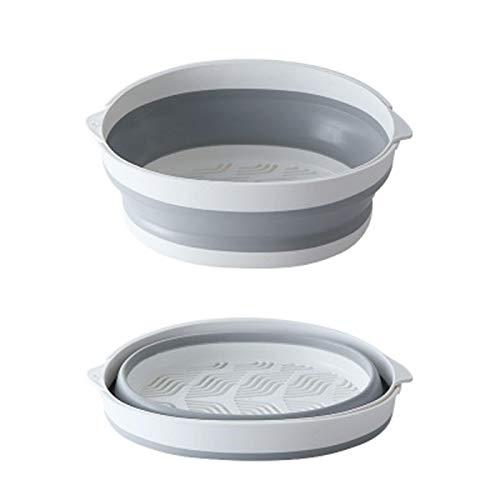 Cxssxling ZoomSky - Juego de colador plegable de silicona para drenar frutas y verduras
