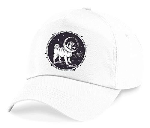 Druckerlebnis24 Cap - Astronaut Mops Weltraum Hund - Basecap für Herren - Damen und Kinder