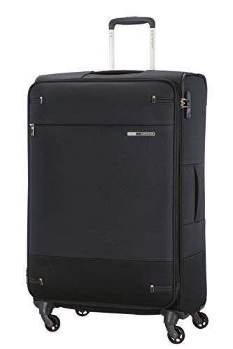 Samsonite Base Boost Spinner M Maleta Expansible, 78 cm, 105/112.5 L, Negro (Black)