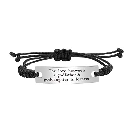 Stainless Steel Godfather and Goddaughter Bracelet Mantra Jewelry...