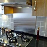 Image of Stainless Steel 1.2mm Thick Brushed Kitchen Splashback (600mm x 800mm)