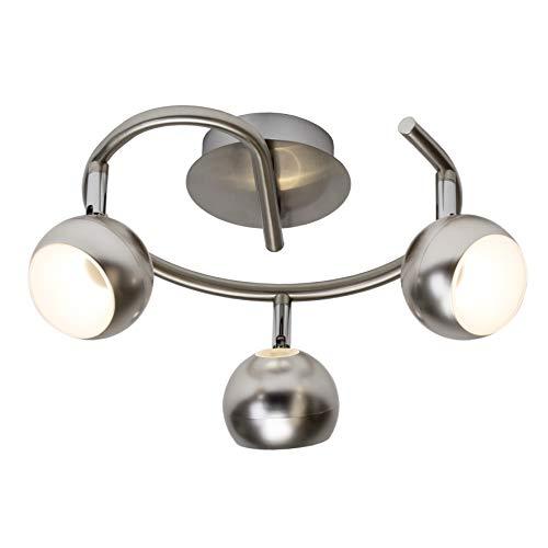 Brilliant Inova - Lámpara de techo (metal, 11,1 W, hierro)