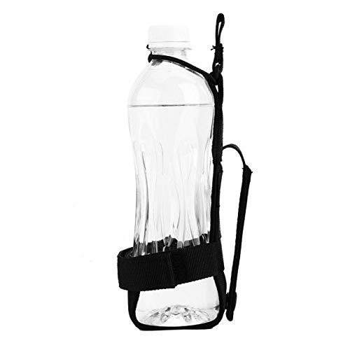 WENHANGshidai Botella de Agua portátil de 3 Colores con cinturón de Nailon Duradero Portabotellas Impermeable para Ciclismo, Senderismo(黑色)