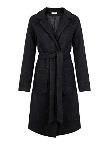 NAME IT Nmzoe L/s Coat Noos Abrigo, Negro (Black Black), 40