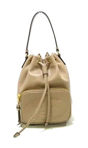 Prada Women's Sechiello Beige Cammeo Glace Calf Leather Bucket Bag 1BH038 (Beige)