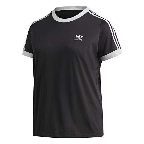 adidas 3 STR tee T-Shirt (Short Sleeve), Mujer, Black/White, 2X