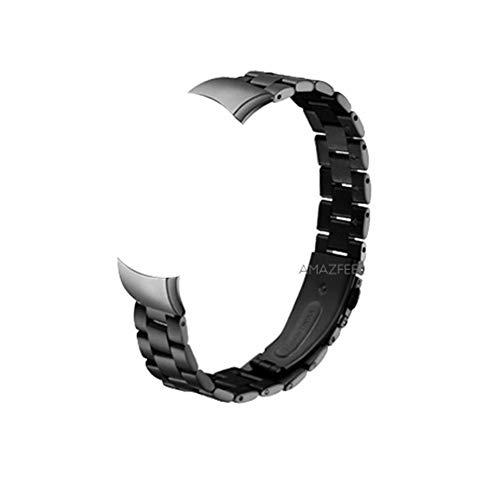 QWERBAM Banda De Reloj del Metal For Huawei Honor Band 4 Correa Metálica De Acero Pulsera De Huawei Banda 4 Correa For La Muñeca Pulsera De Acero Inoxidable Reemplazar For Smart Watch