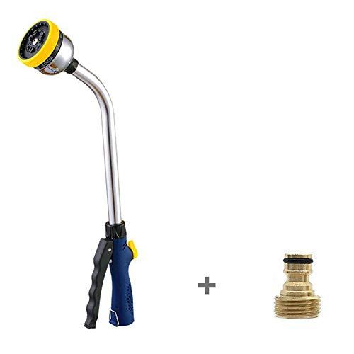 Garden Long Rod Waterpistool Spuitpistool Irrigatie-tool Auto 9 In1 Douchekop Planten Water Geven Sprinklers Toepasselijk DN15-DN25 Slang - Geel (Color : 1)