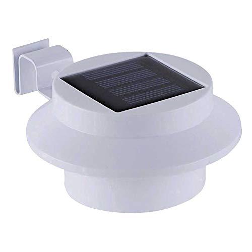 Lampe de clôture solaire LED blanche.