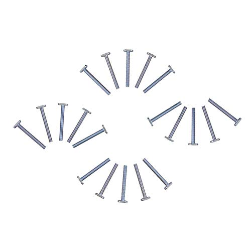 DCT Tee Bolt Set – 20 Pack 2-1/4in T Bolts for Woodworking, T Track Bolts Jig Bolts, 1/4in 20 Thread T Bolt