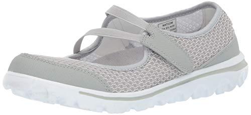 Propet Women's TravelActiv Mary Jo Sneaker, Grey, 9 Narrow
