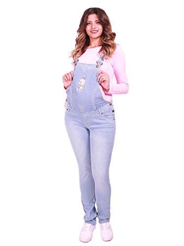 Verkauft von MamiMode Schwangerschaftslatzhose | Jeans | Latzhose | Umstandsmode | Maternity | Baby (48, Hellblau)