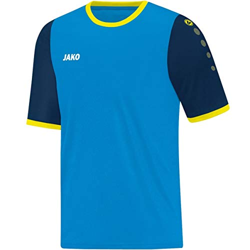 JAKO, Maglia Leeds KA Calcio Maglia, Uomo, Trikot Leeds KA, Blau/Navy/Neongelb, M
