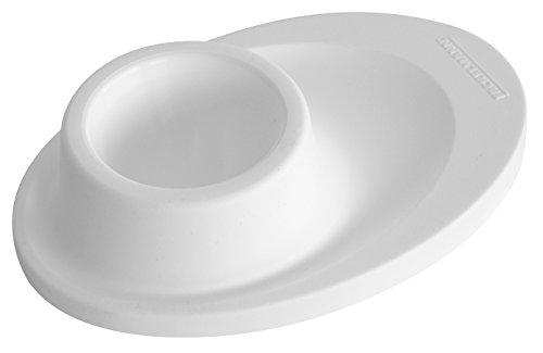 Fackelmann Eierbecher, Eibecher aus Kunststoff, Eierhalter für den Frühstückstisch (Farbe: Weiß oder Gelb - nicht frei wählbar), Menge: 3 Stück