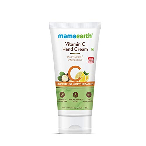 Mamaearth Vitamin C Hand Cream with Vitamin C and Shea Butter for Intense Moisturization – 50 g