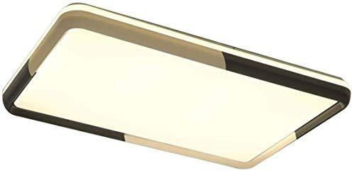 ZHANGL Moderna Minimalista Dimmable Sala de estar Lámpara de techo LED Diseño rectangular Lámpara interior con control remoto Lámpara de techo Lámpara de acrílico Lámpara de techo L96CM Dormitorio Sal