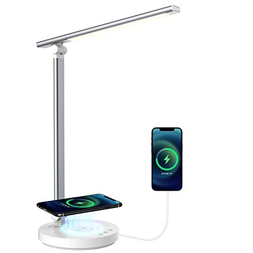 Schreibtischlampe Led Wireless Charger Dimmbar Tischlampe SHEEPPING Bürolampe Touch Control Ladefunktion Nachttischlampe…