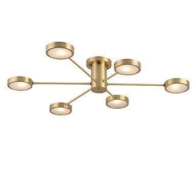 Iyom Candelabros Sputnik de 6 Luces/Novedad Downlight empotrable - Lámpara de Techo LED Creativa para Sala de Estar Blanco cálido