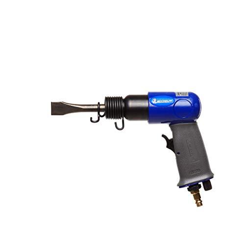 MICHELIN - Set di scalpelli a martello - 4 scalpelli - Molla - Mandrino autotensionante - Bottiglia d'olio - Consumo d'aria: 170 l/min - Pressione massima: 6 bar - Numero di urti: 4500