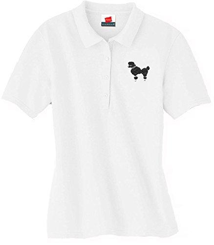 Hip Hop 50s Shop Poodle Skirt Shirt - White (Small, Black)
