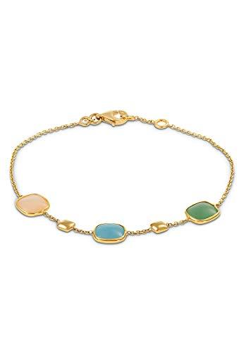 CHRIST Gold Damen-Armband 375er Gelbgold 1 Aventurin One Size 87481026