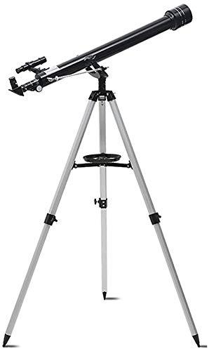 Zijie-bh Equipos teleobjetivo Telescopio for Principiantes, telescopio Refractor portátil fácil de Llevar y Set Up-con 600mm Distancia Focal + 50 mm de Abertura for Principiantes y niños