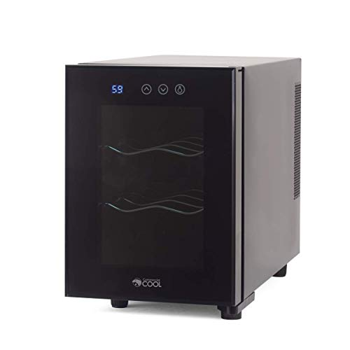 Commercial Cool CCWT060TB Thermal Electric 6 Bottle Wine Cellar, Black