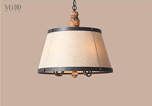 WINZSC Lampes suspendues de Style américain Village Nordic Salon Restaurant Rétro éclairage en Bois Pendentif lumières ZA622 ZL196 lo12