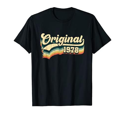 43º Cumpleaños Regalo Original Hombres Mujeres Vintage 1978 Camiseta