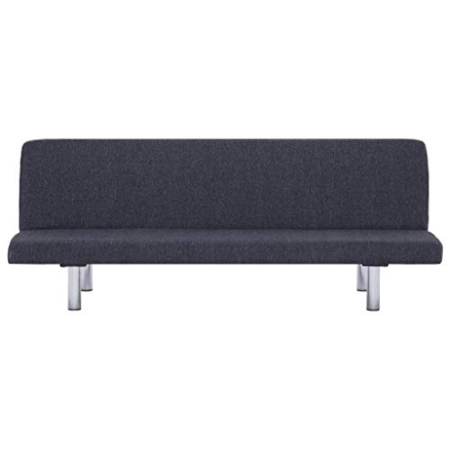 Lechnical Sofá Cama Revestido de poliéster Gris Oscuro, sofá Cama Familiar de Estilo Moderno 168 x 76 x 66 cm (Largo x Ancho x Alto) -3 ángulos Ajustables
