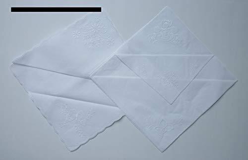 Nähstübl 6 Stück Taschentücher zum umhäkeln ca. 25x25 cm weiß