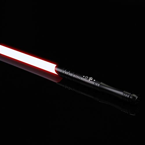 Gflake Lightsaber with Light and Sound Realistic Force FX Light Sabers Hilt and 7/8 inch Light Saber Blade for Adult Heavy Dueling Black