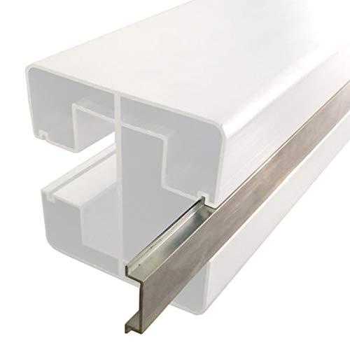 HORI® Nutleiste für WPC-Zaun-Design Pfosten aus Aluminium, silberfarbend I 1100.0