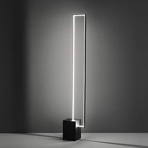 W-SHTAO L-WSWS Lámparas Nórdico Minimalista LED Lámparas de pie Tricolor lámpara de Control Remoto Cubierta decoración Negro Metal con el botón del Interruptor de la lámpara de pie Sala de Estar