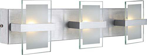 Globo 5 W 10 5 V 3 x LED Lampe murale murales en aluminium brossé