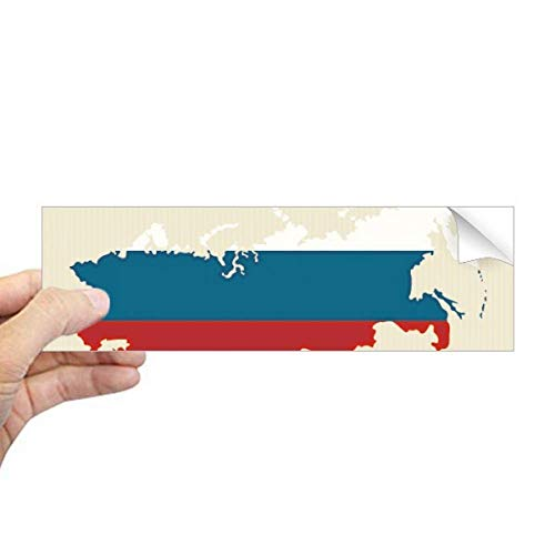 DIYthinker Rusland Kaart Nationale Falg Illustratie Rechthoek Bumper Sticker Notebook Window Decal