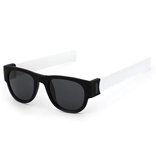 Yi-xir Diseño de moda plegable pulsera deportiva gafas de sol para mujer, gafas de sol para hombre dobladas, gafas de sol perfectas clásicas (color del marco: polarizado)
