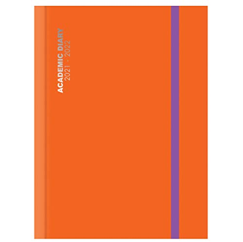 2021-2022 A5 Mid-Year Orange Day a Page Academic Diary Glossy Hardback