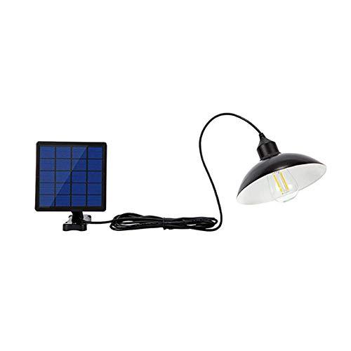 Houkiper Outdoor Solar Shed Light, op zonne-energie aangedreven hanglamp klassieke industriële en moderne manier die Edison-lamp voor café-tuin-portal-paraplu in de open lucht hangt