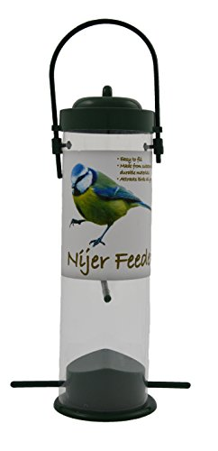 Green Jem Nijer Plastic Wild Bird Feeder, 13x13x24 cm