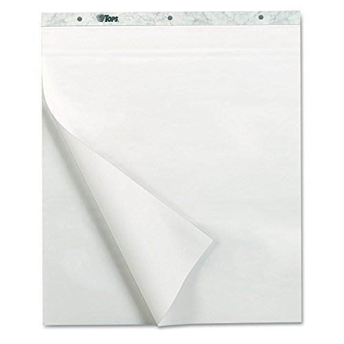 TOPS Products 79190 NotesPlus Easel Pad, Unruled, 25 x 30, White, 2 30-Sheet Pads/Pack