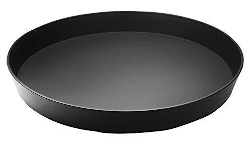 Garnet 9020 Vassoio in plastica Rotondo – con Finitura Antiscivolo Soft Touch nella Parte Interna – Altezza Bordo 4 cm – Diametro 32 cm-Made in Italy