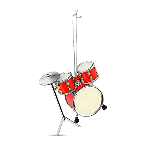 of lee drum sets dec 2021 theres one clear winner Broadway Gifts Red Drum Set Christmas Ornament Decoration Music Drummer New