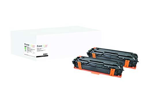 Freecolor toner HP 128A black CE320AD dubbelpak compatibel