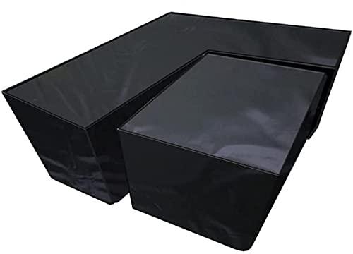 CHLDDHC Funda para muebles de jardín, impermeable, para muebles de jardín, en forma de R, resistente, 210D Oxford, para patio, exterior (300 x 300 x 98 cm), color negro - 155 x 95 x 68 cm