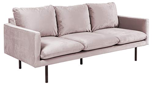 Movian Eli - Sofá de 3 plazas, 85 x 200 x 83 cm (largo x ancho x alto), rosa viejo