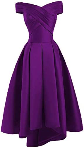 JAEDEN Prom Dress Evening Gown High Low Off Shoulder Party Dress Formal Evening Gowns Pleat product image