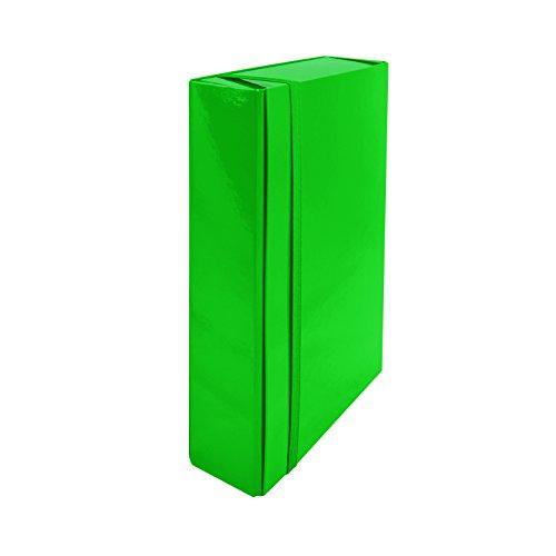euro-cart IRIS Cartella Portaprogetti con Elastico Piatto, Dorso 3 cm, Verde