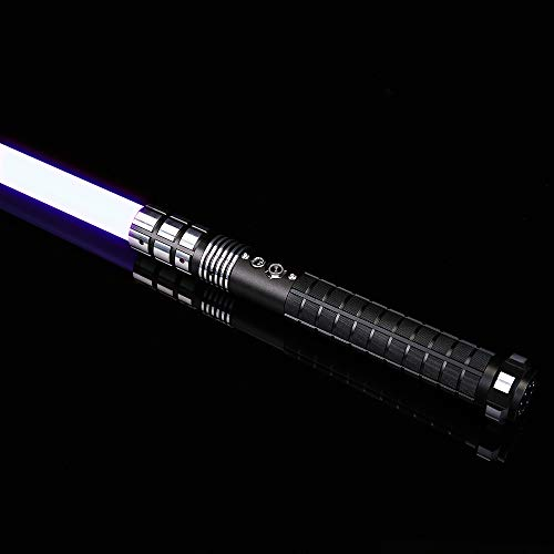 Ciel Tan Force FX Light Sabers with 6 Sound Fonts Lightsaber of Metal Aluminum Hilt for Heavy Dueling RGB Lightsaber Toy 12 Colors to Change