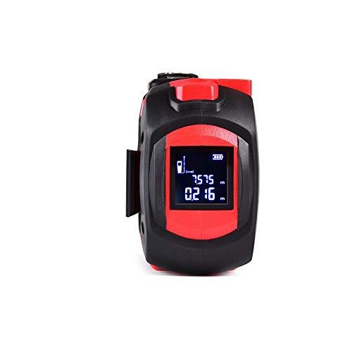 Xyhcs -5 m Cinta métrica Cinta de Acero Inoxidable Medida casa telémetro electrónico de 30 Metros pies (Color : Red)